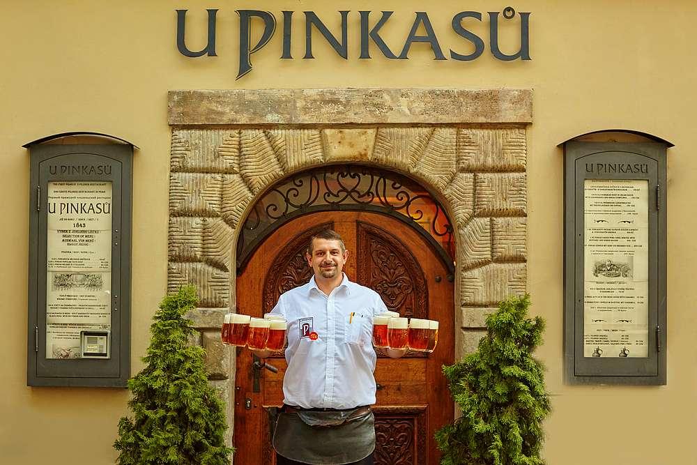 Старочешскoe пиво 3 Ресторан U Pinkasu